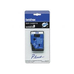 Brother international corporat tc64z1 brother laminated tape - white on blue - 25 feet - brother p-touch 10 , 12 ,12n,