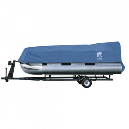 Classic Accessories 20-150-080501-00 STELLEX PONTOON BOAT COVER BLUE - MDL A - 1CS