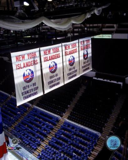 New York Islanders' Stanley Cup Championship Banners Photo Print 1014338