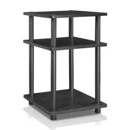 Furinno 15095Bwith BK Turn-N-Tube Easy Assembly Multipurpose Shelf, Black Wood - 20.7 x 14.6 x 14.6 in.