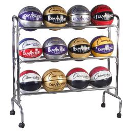 Champion sports portable ball rack 3 tier holds 12 brc3