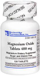 Breckenridge Magnesium Oxide 400 Mg - 120 Tablets, Pack Of 4