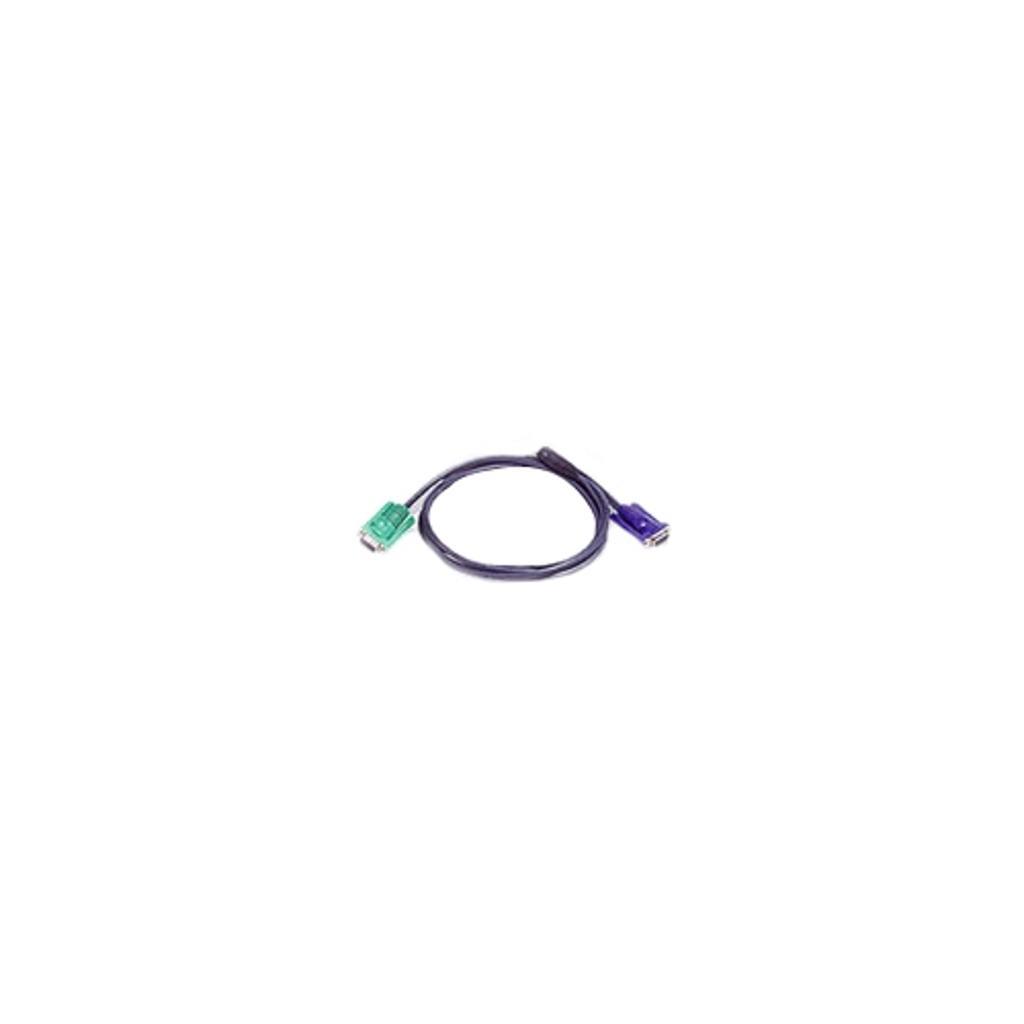 Aten 2l5201u 2l-5201u keyboard / video / mouse (kvm) cable - 4 pin usb type a, hd-15 (m) - 15