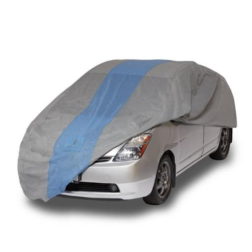 Classic Accessories A1HB183 Duck Defender Cover for Hatchbacks up to 15 ft, Light Grey & Gulf Blue IZ1IOSPQHFDDURGM