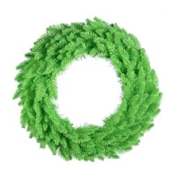 Vickerman K162725LED Lime Dural-Lit Lime Wreath with Lime LED Lights, 24 in.