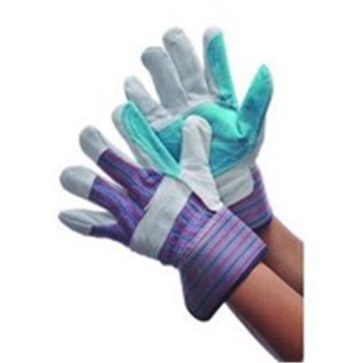 Major Gloves & Safety 30-3111A Joint Leather Double Palm Gloves - Pack of 6