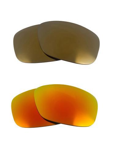 Best SEEK Replacement Lenses for Oakley SQUARE WIRE (2006) Gold Yellow Mirror