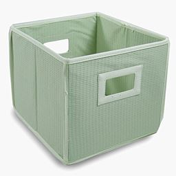 Badger Basket Co Folding Basket/Storage Cube - Sage Waffle