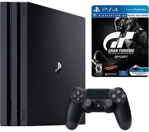 Sony PlayStation 4 Pro 1TB Gaming Console + Gran Turismo Sport Limited Edition Steelbook