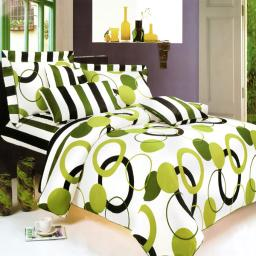 Blancho Bedding - Artistic Green 100% Cotton 4PC Sheet Set (Full Size)