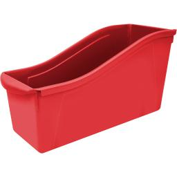 Storex industries 6 ea large book bin red 71102u06cbn