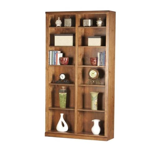 Eagle Furniture 72884NGSS 84 in. Double Wide Coastal Bookcase, Summer Sage