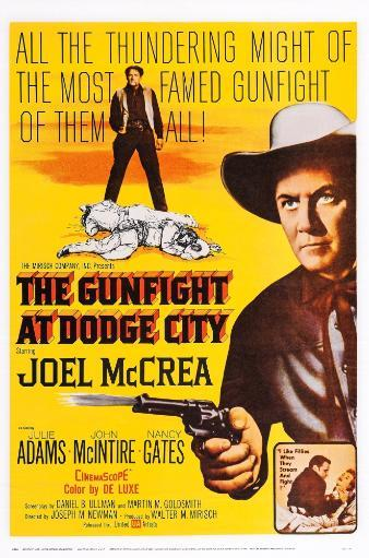 The Gunfight At Dodge City Us Poster Art Joel Mccrea 1959. Movie Poster Masterprint RTNGBWF7MBSST2MG