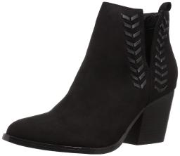 Carlos by Carlos Santana Women's Whitley Ankle Boot, Black, Size 9.5