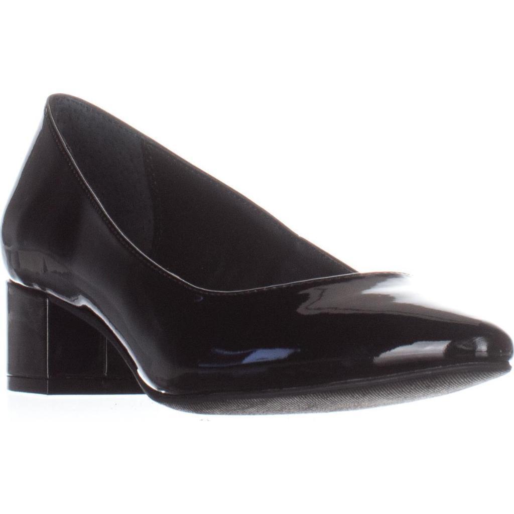 A35 Step N Flex Daleah Block-Heel Pumps, Black Patent