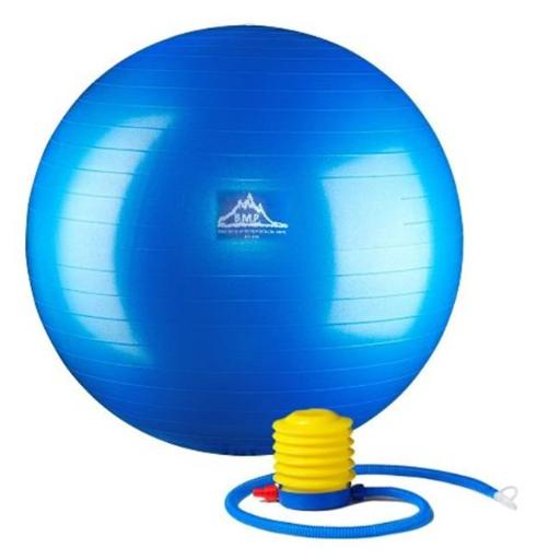Black Mountain Products PSBLUE 55CM 55 cm. Professional Grade Exercise Stability Ball, Blue