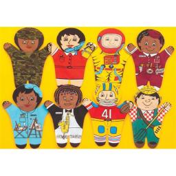 Dexter Educational Toys DEX840W Career 8 Piece Puppet Set - Caucasian