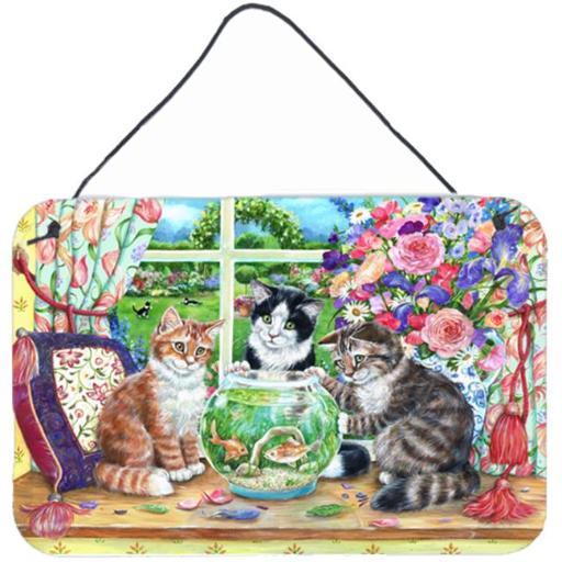 Carolines Treasures CDCO0325DS812 Cats Just Looking in the Fish Bowl Wall or Door Hanging Prints