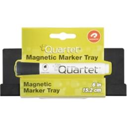 Acco Brands USA 42184 6 in. Quartet Mini Magnetic Marker Tray - Black