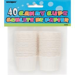 """Candy Cup 1.75"""" 40/Pkg-White 3950W"""