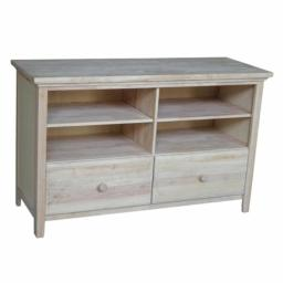 International Concepts TV-52 Entertainment / tv stand - with 2 drawers Ready to Finish