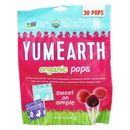 YumEarth Organic Easter Candy Lollipops, 7.4 Ounce