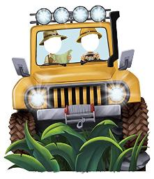 Jungle Party Jeep Standee Party Prop - 4.5' Tall - , Pack Of 1