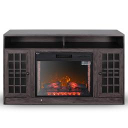 DELLA 59 in. Electric Fireplace TV Stand with Doors and Remote Control