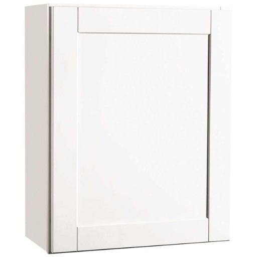 Continental Cabinets Cbkw2430-Ssw Rsi Home Products Andover Shaker Wall Cabinet White 24X30 In.