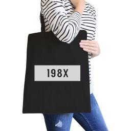 198X Black Canvas Tote Cute Portable Bag Gift Idea For Teachers