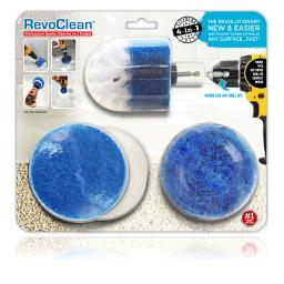 RevoClean  4 in. W Metal  Deep Clean Brush Set - Case Of: 1; Each Pack Qty: 4; Total Items Qty: 4