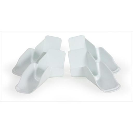 42134 Gutter Spouts With Extensions 4 Pack, White