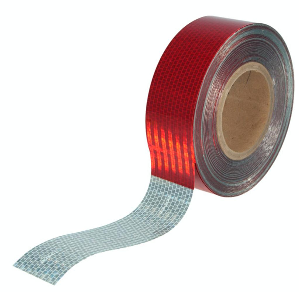 Grote indutries 41050 grote 41050 - conspicuity tape, 6 x 6 red/silver, 2 x 150' roll