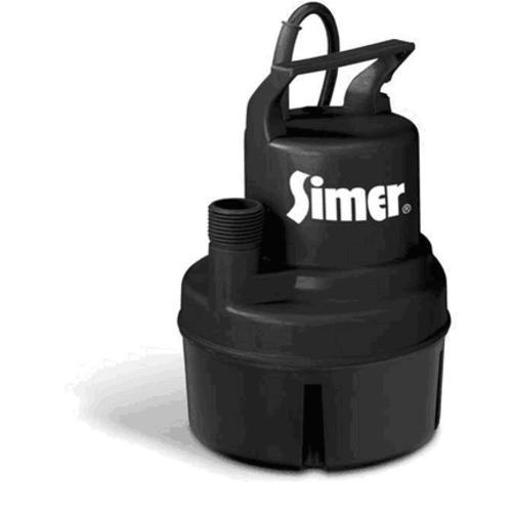 Simer 11652 Thermoplastic Utility Pump 1/6 Hp