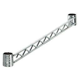 Quantum Storage HB60S Wire Shelving Hang Rail, 60 in. - Stainless Steel