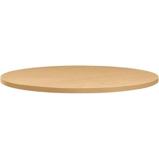 The HON HONBTRND36NDD 36 in. Between Laminate Round Table Top, Natural Maple