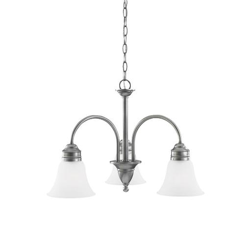 Sea Gull Lighting 31850-965 3-Light Chandelier Antique Brushed Nickel Finish