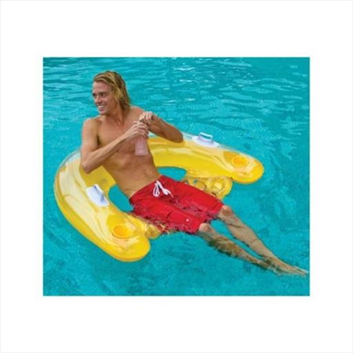 Intex 58859EP-Y Sit n Float Inflatable Pool Tube Raft in Yellow