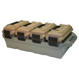 Mtm  mtm 4-can ammo crate dark earth/forest green
