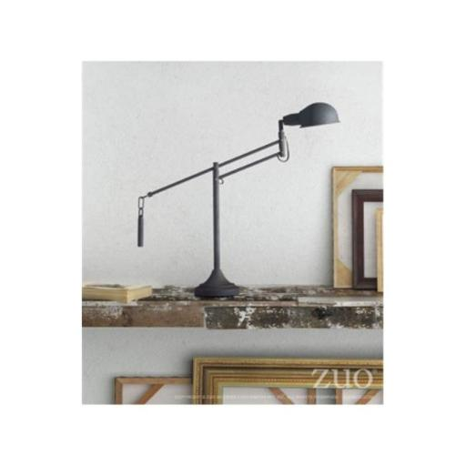 Zuo Modern Contemporary 50310 Skip Table Lamp - Black Sand Granite