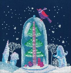 """Winter Fairy Tale Counted Cross Stitch Kit-8.25""""X7.75"""" 14 Count M649"""
