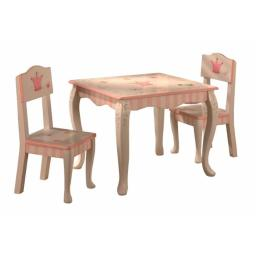Teamson W-7395A-2 Set Of 2 Chairs - Princess And Frog Collection - Table Sold Separately