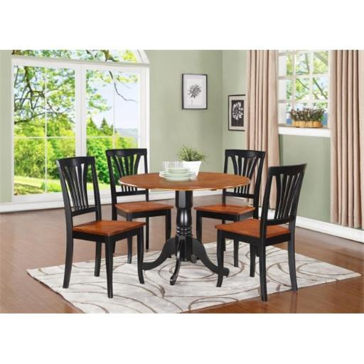 5 Piece Small Kitchen Table and Chairs Set-Kitchen Table and 4 Kitchen Chairs