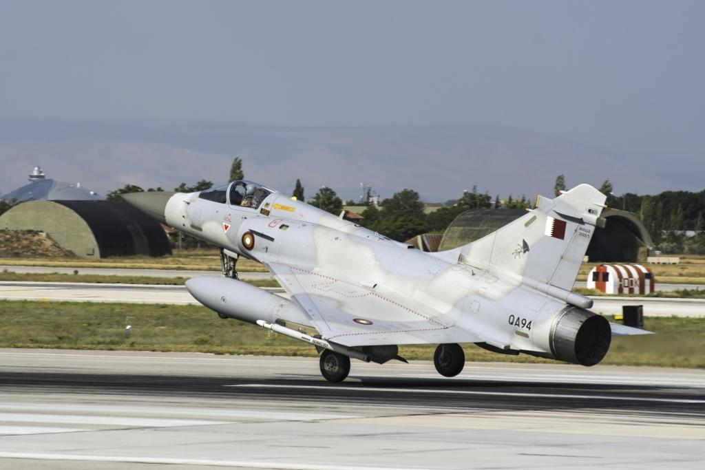 A Qatar Emiri Air Force Mirage 2000-5EDA/5DDA attending the international Exercise Anatolian Eagle 2014-2 in Konya, Turkey Poster Print