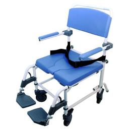 Healthline 791154430194 Aluminum Shower Commode Chair, 22 in. Seat