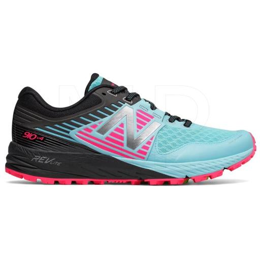 New Balance Womens 910v4 running Shoe Fabric Low Top Lace Up Running Sneaker