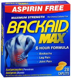 Backaid Max Backache Relief Tablets - 28 Ct, Pack Of 4