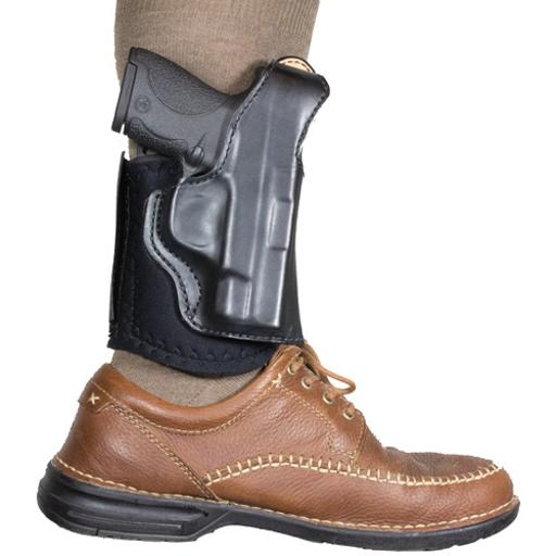 Desantis 014pc8bz0 desantis diehard ankle holster rh leather glock 43 black
