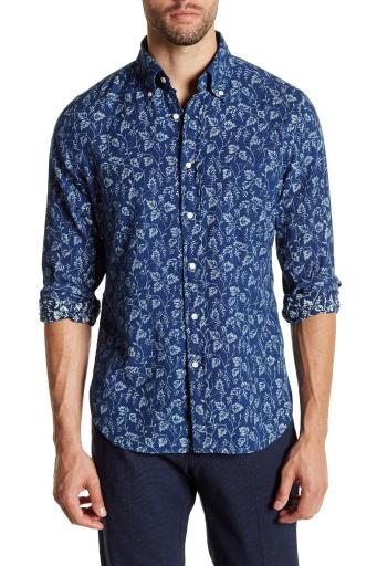 GANT Men's Grapes Oxford Shirt, Dark Indigo, Medium