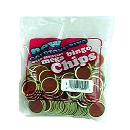 Magnetic Bingo Chips, Red, 100 Ct